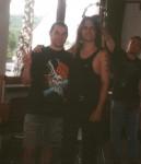 1996 Harry Reischmann und Dave Lombardo (Slayer)