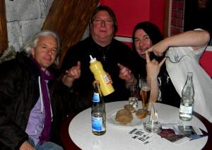 Hermann Skibbe, Harry Reischmann und Werner Saumweber mit Skibbe in Altdorf 2012