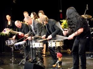 Charly Antolini, Thilo Wolf, Paul Höchstädter und Harry Reischmann 2012 in Fürth