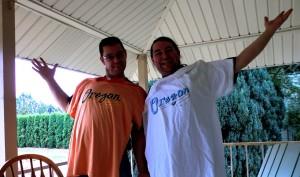 Andi Reischmann and Harry Reischmann 2011 in Mt. Angel