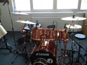 Studio Drums von Harry Reischmann - Sonor Hilite Exclusive