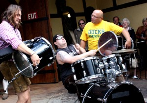 harry reischmann - drumshow with hugo and thommy 2011in canby