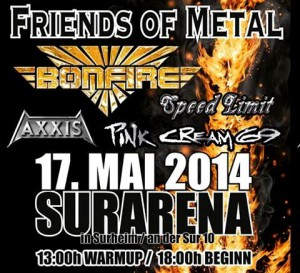 Friends of Metal Festival mit Bonfire, Axxis und Pink Cream 69