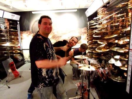 Harry Reischmann im Sabian (Germany) Showroom 2014
