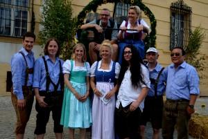 Band Hüttenpower mit Barbara Schöneberger und Harry Reischmann 2015 in Ellingen